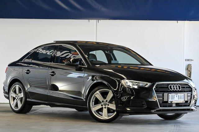 Used Audi A3 8V MY18 S Tronic Laverton North, 2018 Audi A3 8V MY18 S Tronic Black 7 Speed Sports Automatic Dual Clutch Sedan