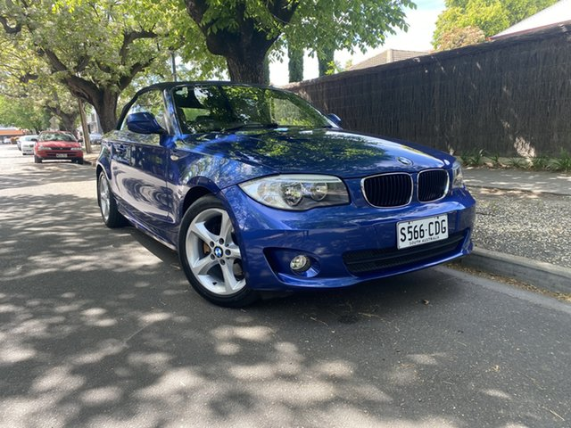 Pre-Owned BMW 120i E88 MY11 120i Hawthorn, 2010 BMW 120i E88 MY11 120i Blue 6 Speed Manual Convertible