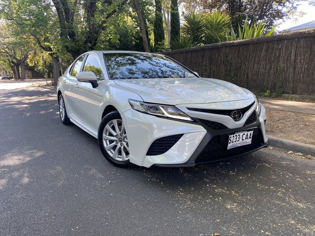 Pre-Owned Toyota Camry ASV70R Ascent Sport Hawthorn, 2019 Toyota Camry ASV70R Ascent Sport White 6 Speed Sports Automatic Sedan