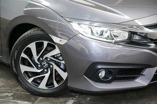 2017 Honda Civic 10th Gen MY17 VTi-S Grey 1 Speed Constant Variable Sedan.