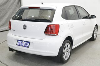 2011 Volkswagen Polo 6R MY11 77TSI DSG Comfortline White 7 Speed Sports Automatic Dual Clutch