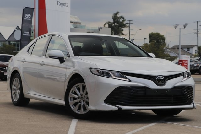 Pre-Owned Toyota Camry ASV70R Ascent Albion, 2019 Toyota Camry ASV70R Ascent Frosted White 6 Speed Sports Automatic Sedan