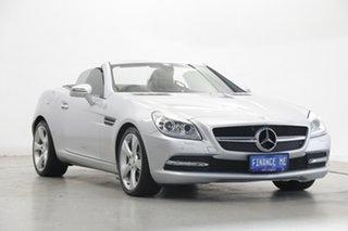 2012 Mercedes-Benz SLK-Class R172 SLK350 BlueEFFICIENCY 7G-Tronic + Silver 7 Speed Sports Automatic.