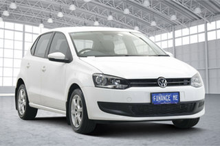 2011 Volkswagen Polo 6R MY11 77TSI DSG Comfortline White 7 Speed Sports Automatic Dual Clutch.