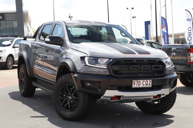 Demo Ford Ranger PX MkIII 2021.75MY Raptor X Pick-up Double Cab Toowoomba, 2021 Ford Ranger PX MkIII 2021.75MY Raptor X Pick-up Double Cab Conquer Grey 10 Speed