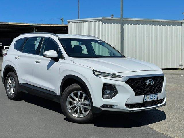 Used Hyundai Santa Fe TM MY19 Active Moonah, 2018 Hyundai Santa Fe TM MY19 Active White 8 Speed Sports Automatic Wagon
