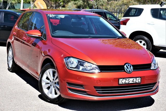 Used Volkswagen Golf VII MY15 90TSI DSG Comfortline Phillip, 2015 Volkswagen Golf VII MY15 90TSI DSG Comfortline Red 7 Speed Sports Automatic Dual Clutch