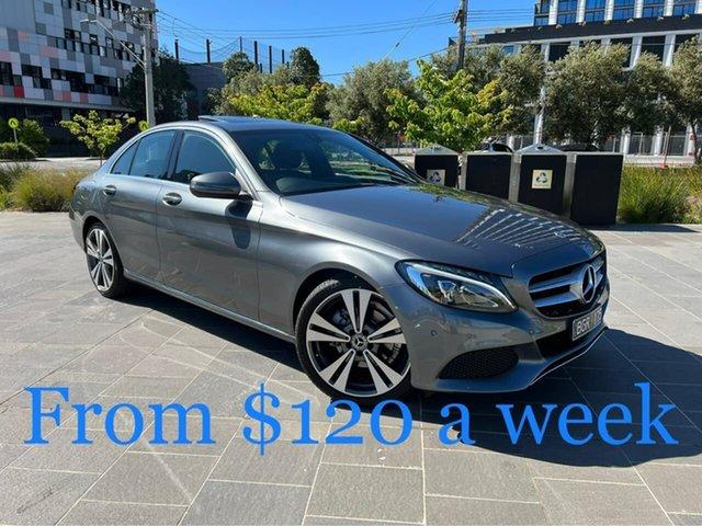 Used Mercedes-Benz C-Class W205 808MY C200 9G-Tronic South Melbourne, 2018 Mercedes-Benz C-Class W205 808MY C200 9G-Tronic Grey 9 Speed Sports Automatic Sedan