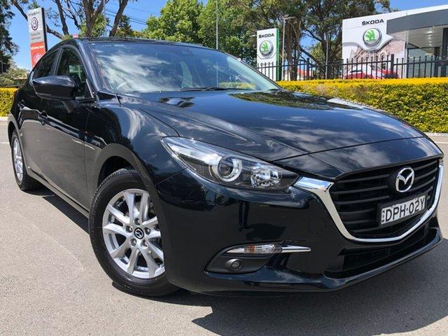 Used Mazda 3 BN5478 Maxx SKYACTIV-Drive Botany, 2017 Mazda 3 BN5478 Maxx SKYACTIV-Drive Black 6 Speed Sports Automatic Hatchback
