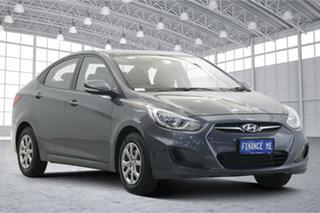 2012 Hyundai Accent RB Active Grey 5 Speed Manual Sedan.