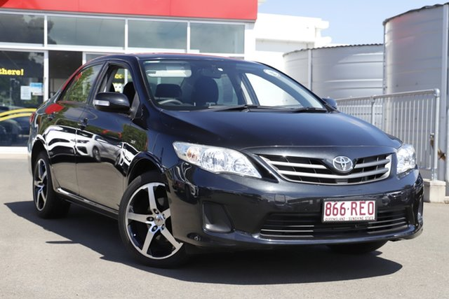 Used Toyota Corolla ZRE152R Ascent Toowoomba, 2010 Toyota Corolla ZRE152R Ascent Black 6 Speed Manual Sedan