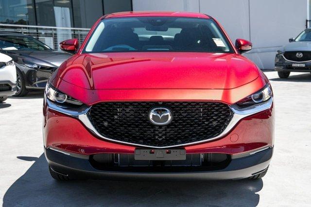 New Mazda CX-30 DM2W7A G20 SKYACTIV-Drive Evolve Liverpool, 2021 Mazda CX-30 DM2W7A G20 SKYACTIV-Drive Evolve Soul Red Crystal 6 Speed Sports Automatic Wagon