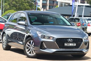 2018 Hyundai i30 PD2 Update Active Iron Grey 6 Speed Auto Sequential Hatchback.