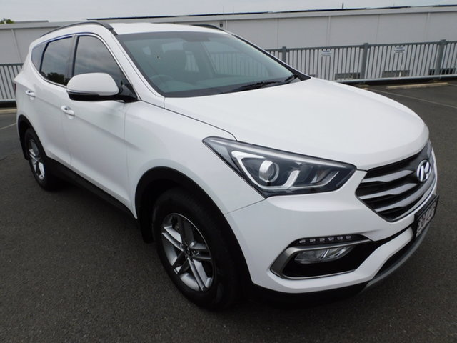 Used Hyundai Santa Fe DM5 MY18 Active Toowoomba, 2017 Hyundai Santa Fe DM5 MY18 Active White 6 Speed Sports Automatic Wagon