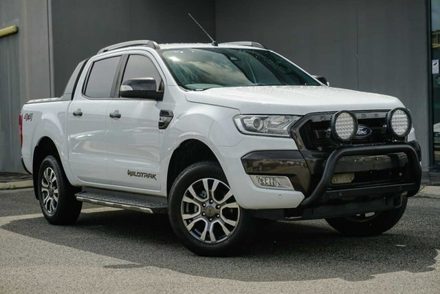 Used Ford Ranger PX MkII Wildtrak Double Cab Osborne Park, 2017 Ford Ranger PX MkII Wildtrak Double Cab White 6 Speed Sports Automatic Utility