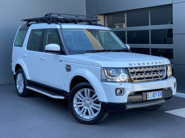 Used Land Rover Discovery Series 4 L319 MY15 HSE Hobart, 2014 Land Rover Discovery Series 4 L319 MY15 HSE White 8 Speed Sports Automatic Wagon