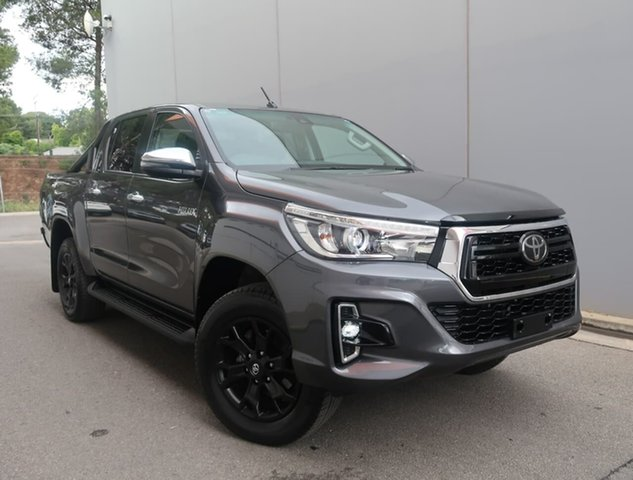 Used Toyota Hilux GUN126R SR5 Double Cab Reynella, 2019 Toyota Hilux GUN126R SR5 Double Cab Grey Seats, Black Rest Fabric 6 Speed Sports Automatic