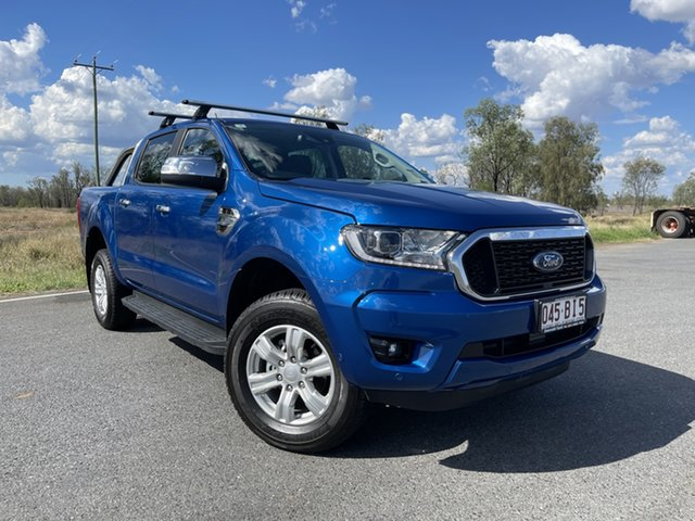 Used Ford Ranger PX MkIII 2021.25MY XLT Emerald, 2021 Ford Ranger PX MkIII 2021.25MY XLT Blue Lightning 6 Speed Sports Automatic Double Cab Pick Up